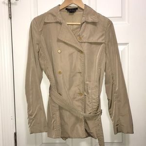 Theory Bergdorf Goodman trench coat nylon jacket S
